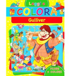 read and colour album gulliver's travels 9788861756205 - Futurartshop.com