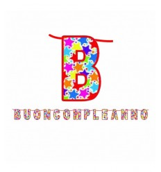maxi scritta buon compleanno BIG60195 New Bama Party-Futurartshop.com