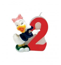 Candle number 2 disney Daisy duck 6142 New Bama Party- Futurartshop.com