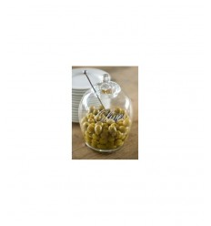RIVIERA MAISON porta olive glass olives jar 117450 -Futurartshop.com