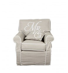 Poltrona signore Mr. chair, lnen 3222001 -Futurartshop.com