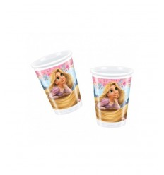 10 plastic cups Rapunzel D36RA New Bama Party- Futurartshop.com