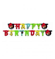 festone happy birthday angry birds CMG552367 Como Giochi -Futurartshop.com