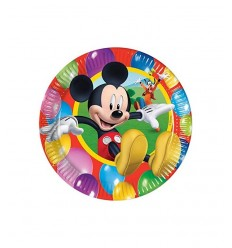 10 20 cm plates Mickey Mouse 4062470B New Bama Party- Futurartshop.com