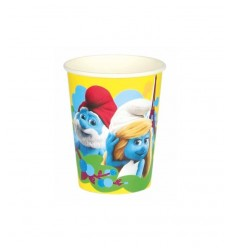 8 paper cups Smurfs 20 CL 552490 New Bama Party- Futurartshop.com
