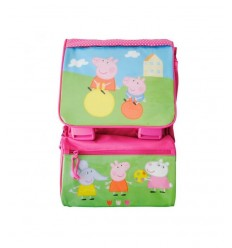 peppa pig pink rucksack with flap shines 140851 Accademia- Futurartshop.com