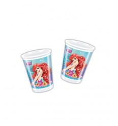 ariel Little Mermaid disney glasses 8 pieces 5PR82206 New Bama Party- Futurartshop.com