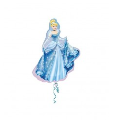 Minishape geformte Ballon-Cinderella 05983 New Bama Party- Futurartshop.com