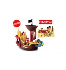 Bateau de pirate de Mattel Fisher Prix Pirate Jake Y2265-The Jolly Roger Y2265 Mattel- Futurartshop.com