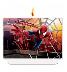 happy birthday spiderman candle
