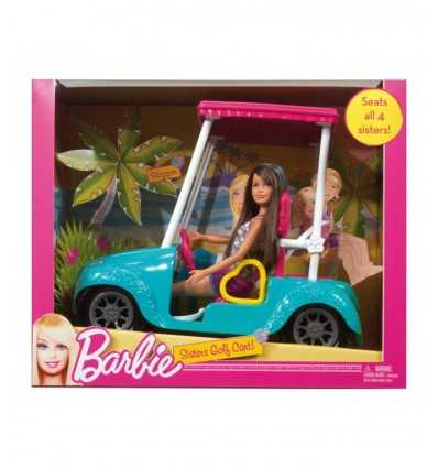 golf cart barbie con Skipper X4926 Mattel-Futurartshop.com