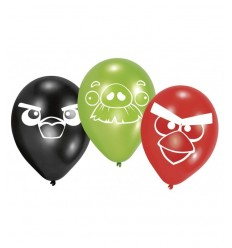 6 palloncini latex angry birds 00773 New Bama Party-Futurartshop.com