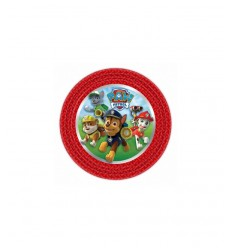 plates 18 cm paw patrol 8 pieces 7RM999133 New Bama Party- Futurartshop.com