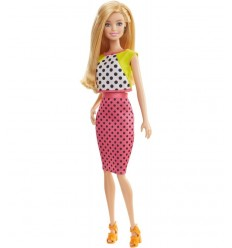 Barbie fashionistas with Fuchsia and white polka dot dress DGY54/DGY62 Mattel- Futurartshop.com