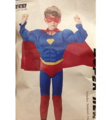 11-14 year old superhero costume with muscle 130316/L Grandi giochi- Futurartshop.com