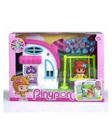 White and pink cottage character piny pon with swing 700010144/21321 Famosa- Futurartshop.com