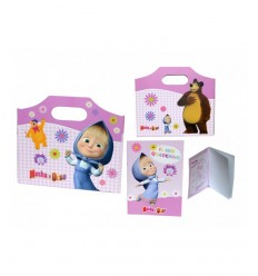 Masha and the bear folder with coloring sheets 160089 Accademia- Futurartshop.com