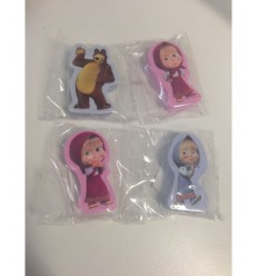 Masha and the bear rubber with 4 character models 160098/3 Accademia- Futurartshop.com