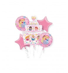 assortiment de ballons pour le fête de princesse Disney A14837-37 Magic World Party- Futurartshop.com