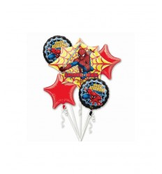 set palloncini spiderman buon compleanno A18658-37 Magic World Party-Futurartshop.com