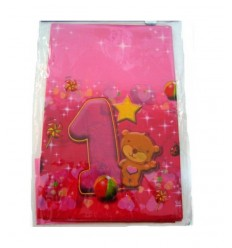 Tovaglia festa 1 compleanno rosa 13428 New Bama Party-Futurartshop.com
