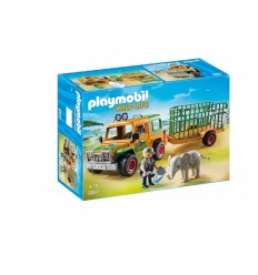 Playmobil jeep with rangers ' transport crate 6937 Playmobil- Futurartshop.com
