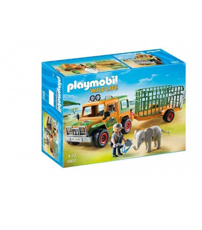 playmobil jeep with rangers 39 transport crate playmobil wild life. Black Bedroom Furniture Sets. Home Design Ideas