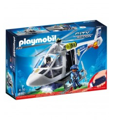 Playmobil police helicopter with lights sighting 6921 Playmobil- Futurartshop.com