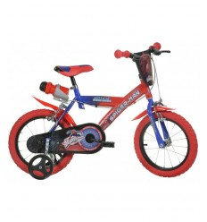 16 röda spiderman cykel 163G SP Dino bikes- Futurartshop.com