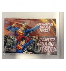 Cartes d'invitation Superman 162146 Accademia- Futurartshop.com