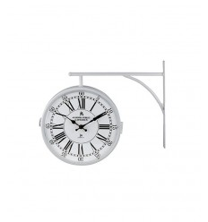Wall clock white flag 14755 Lowell- Futurartshop.com