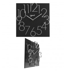 Black wood wall clock 14535N Lowell- Futurartshop.com