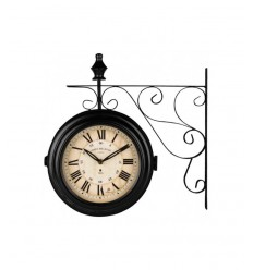 Horloge drapeau noir LOW14754 Lowell- Futurartshop.com