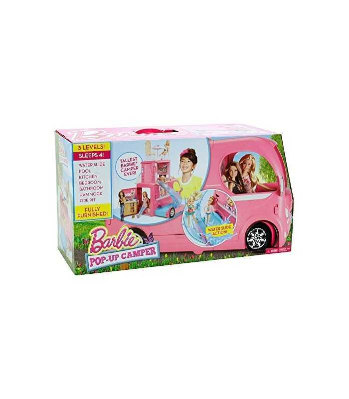 barbie wohnmobil pop up mit wasserrutsche mattel. Black Bedroom Furniture Sets. Home Design Ideas
