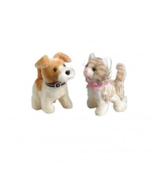 dog and cat walking plush GG82100 Grandi giochi- Futurartshop.com