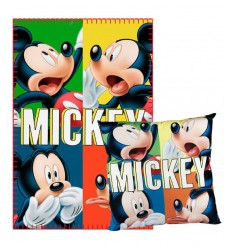 Set Plaid con cuscino Mickey Mouse 2200001662 Cerdà-Futurartshop.com