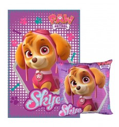 Set Plaid con cuscino Skye Paw Patrol 2200001660 Cerdà-Futurartshop.com