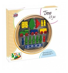 Set de train en bois GG95005 Grandi giochi- Futurartshop.com