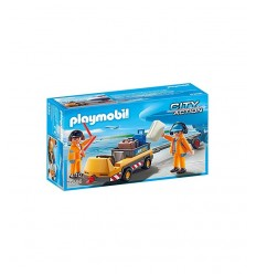Playmobil luggage transport vehicle with track Marshalls 5396 Playmobil- Futurartshop.com