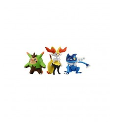 quilladin braixen and frogadier characters with pokemon 3 blister