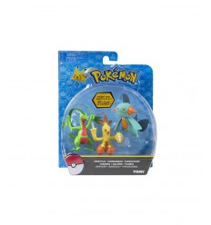 blister with 3 pokemon characters grovyle combusken and marshtomp