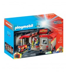 Playmobil fire station laptop Briefcase 5663 Playmobil- Futurartshop.com