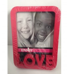 Red plastic photo frame love 94/2511 - Futurartshop.com