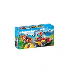 Playmobil quad with mountain rescue stretcher 9130 Playmobil- Futurartshop.com