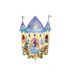 Palloncino mini shape castello delle principesse disney 10914 New Bama Party-Futurartshop.com