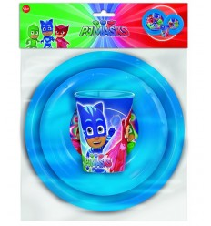 Super sleep suits 3 piece feeding set pj masks 1910 1133 - Futurartshop.com