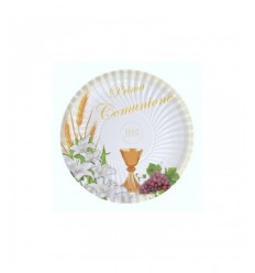 10 plates 18 cm communion lily BIM0000184 New Bama Party- Futurartshop.com