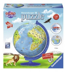 World map 3D-180 bit ny upplaga RAV12340 Ravensburger- Futurartshop.com