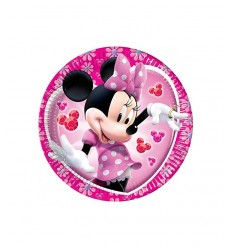 Envase de 10 placas de color rosa de minnie mouse clubhouse EXD02MY New Bama Party- Futurartshop.com