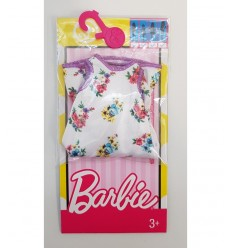 Barbie abitini fashion bianco con fiori FCT12/DXB02 Mattel-Futurartshop.com
